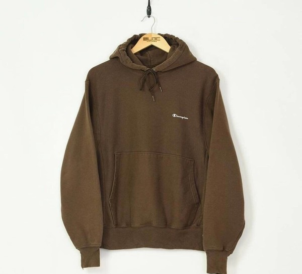 sweater brown hoodie champion pockets hooded jacket cotton fashion