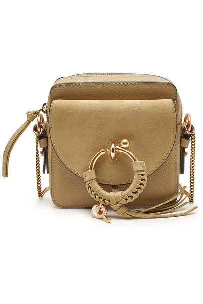 See by Chloé Suede and Leather Shoulder Bag  in green