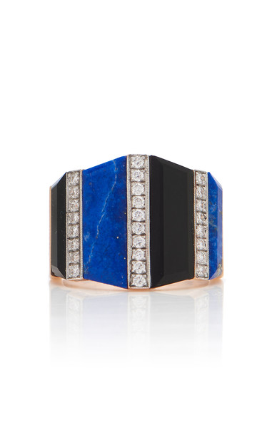 Melis Goral 14K Gold And Multi-Stone Ring Size: 7 in blue