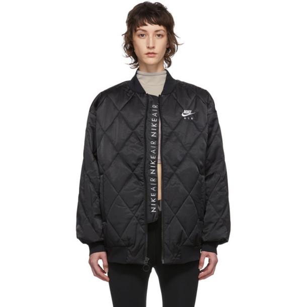 Nike Black Satin NSW Air Jacket