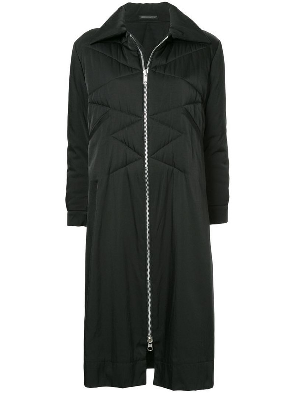 Yohji Yamamoto Pre-Owned quilted long coat in black