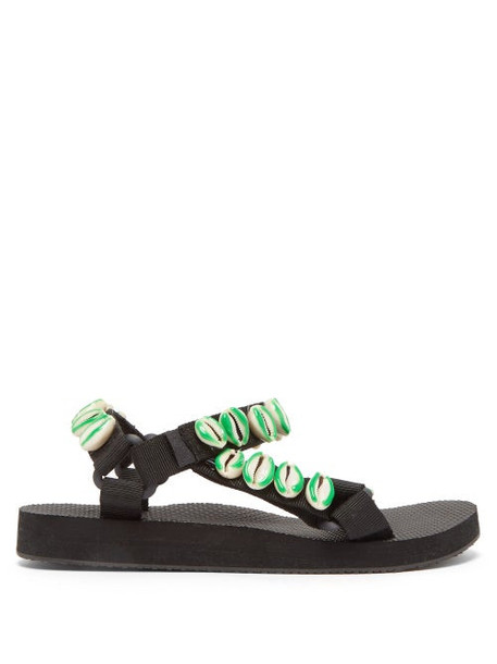 Arizona Love - X Timeless Pearly Shell Embellished Sandals - Womens - Green