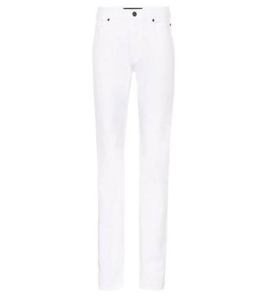 Calvin Klein 205W39NYC High-rise slim-straight jeans in white