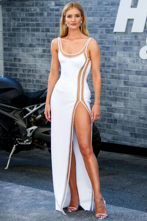 shoes white white dress slit dress gown rosie huntington-whiteley model off-duty silver shoes