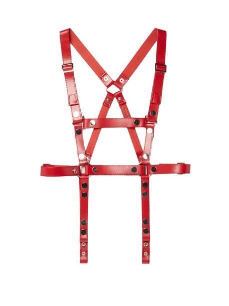 Junya Watanabe - Studded Leather Harness Belt - Womens - Red