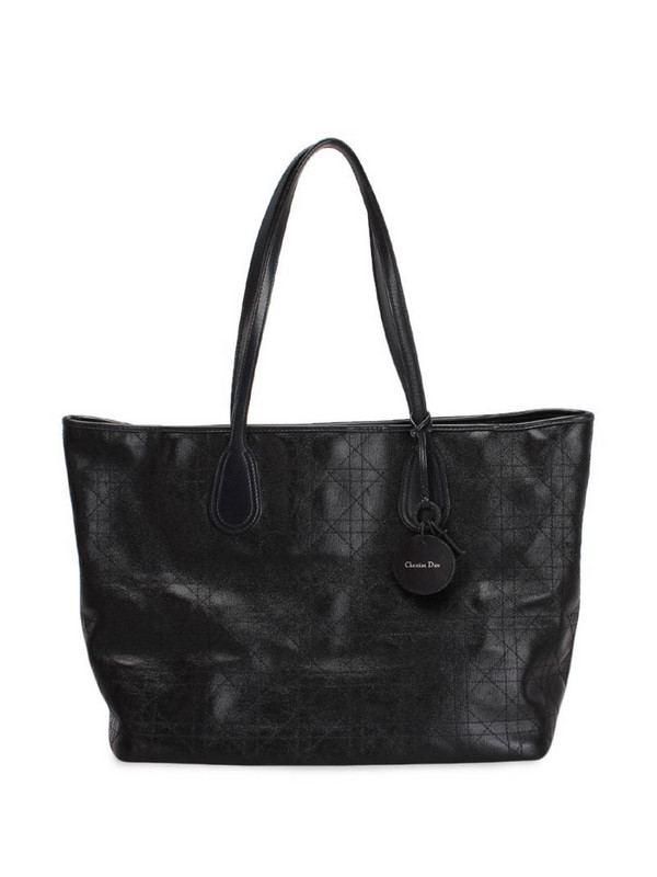 Christian Dior pre-owned Cannage Panarea tote bag in black