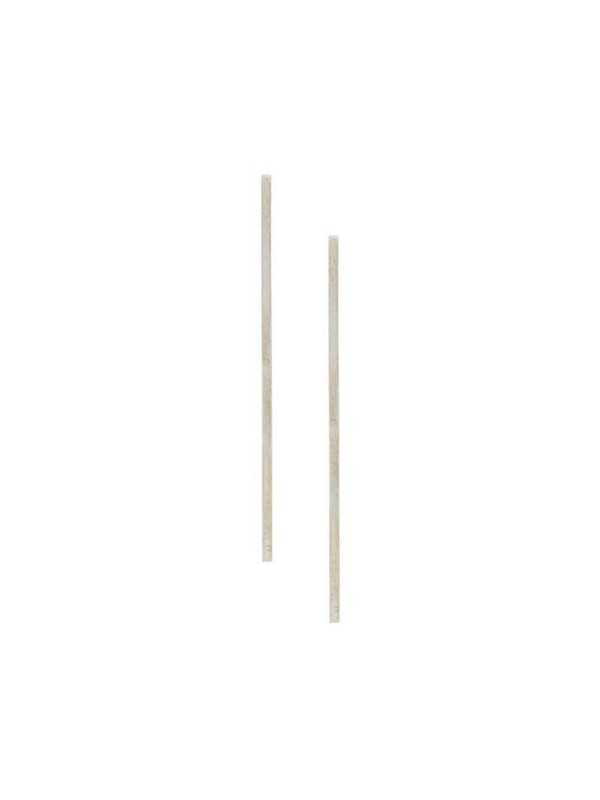Hsu Jewellery Perspective bar earrings in silver