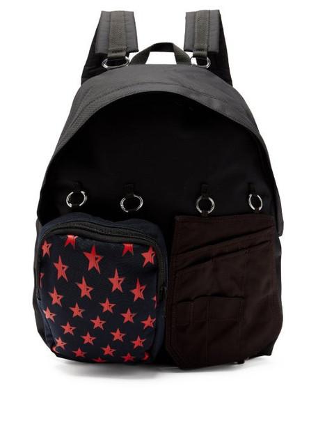 Raf Simons X Eastpak - Doubl'r Star-print Panelled Backpack - Womens - Black Multi