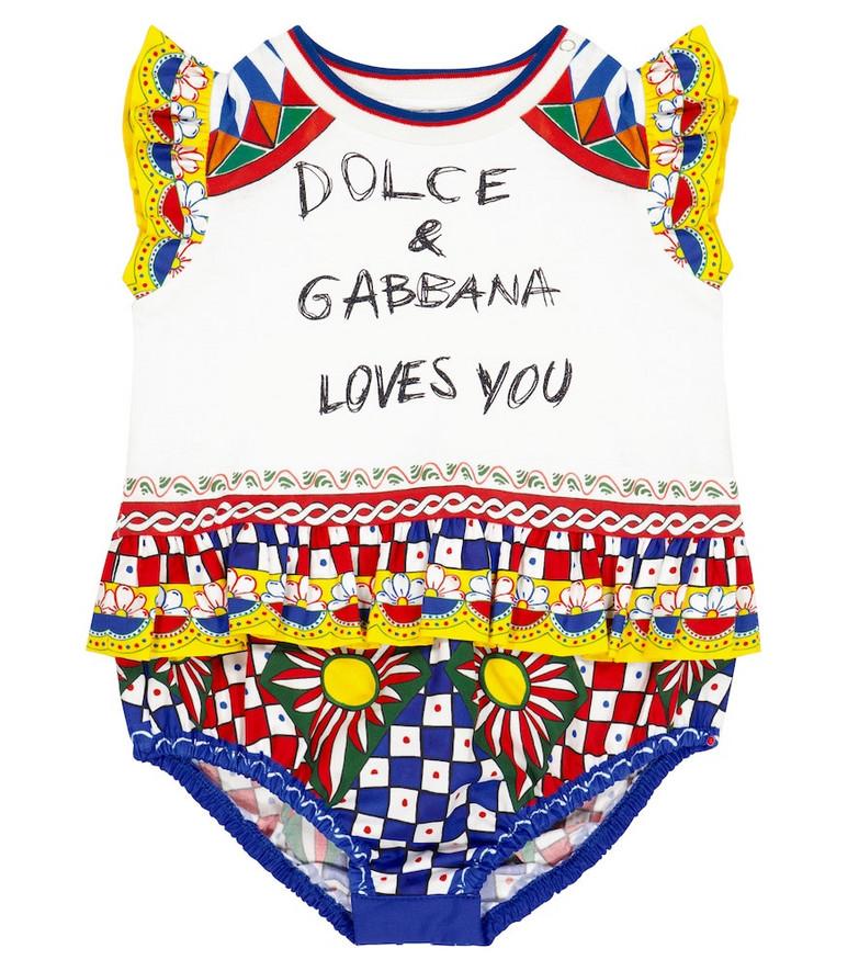 Dolce & Gabbana Kids Baby printed cotton romper
