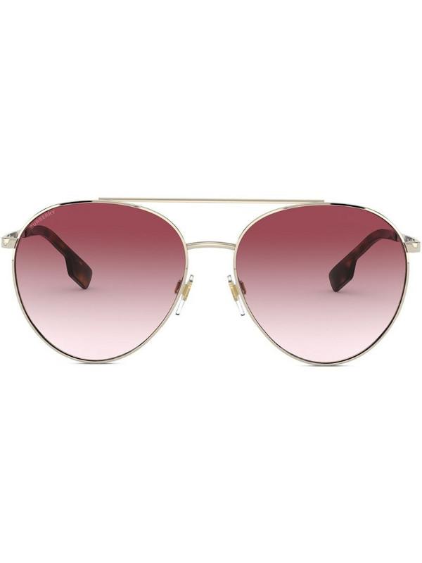 Burberry Eyewear aviator-frame sunglasses in gold