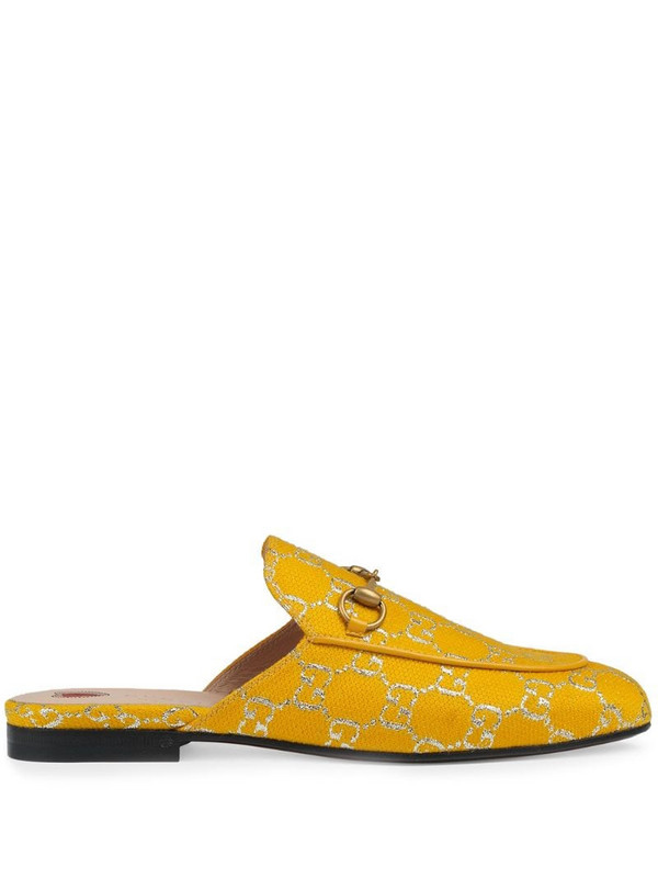 Gucci Princetown GG Supreme slippers in yellow