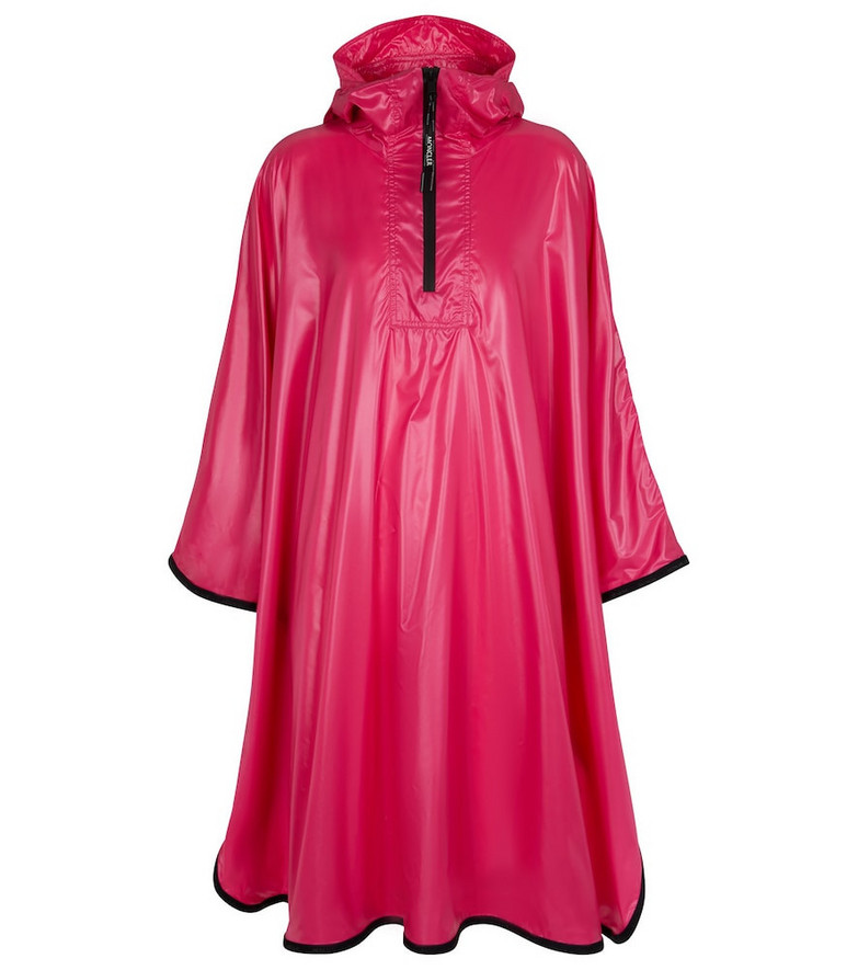 Moncler Rain poncho in red