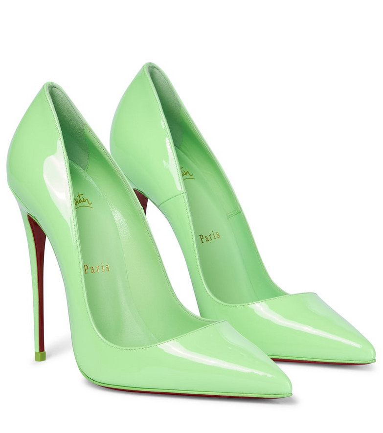 Christian Louboutin So Kate 120 patent leather pumps in green