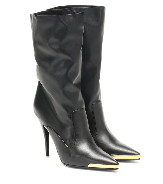 Stella McCartney Faux leather ankle boots in black