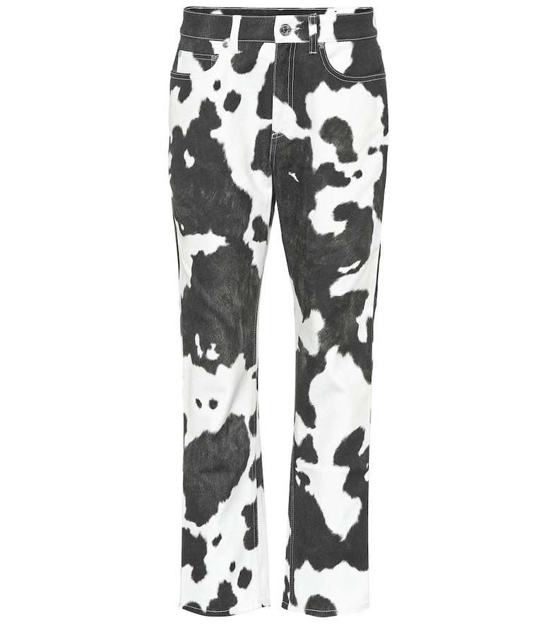 Burberry Printed high-rise straight-leg jeans in black