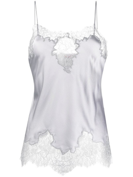 Ermanno Scervino lace panel camisole in grey