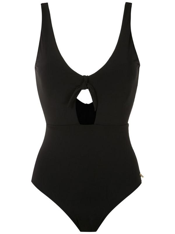 Brigitte cut out swimsuit in black