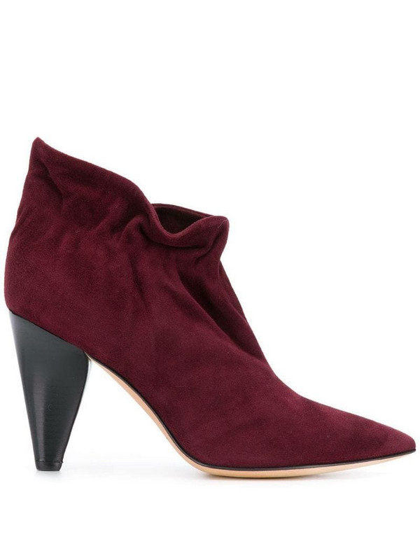 Derek Lam slip-on ankle boots in red