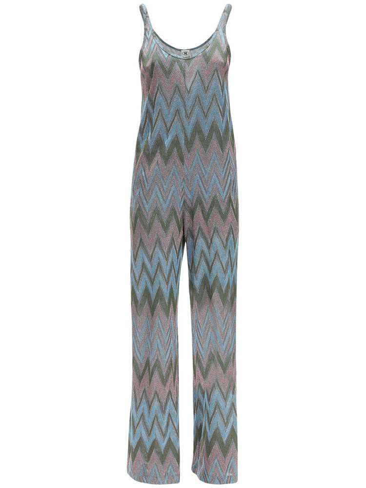 M MISSONI Lurex Jersey Jumpsuit in blue