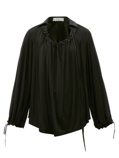 Palmer/harding Palmer//harding - First Moment Ruched Jersey Blouse - Womens - Black