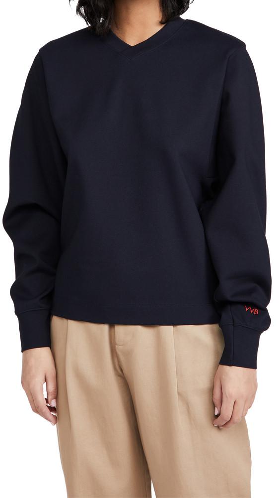 Victoria Victoria Beckham Ponte Jersey Sweatshirt in navy