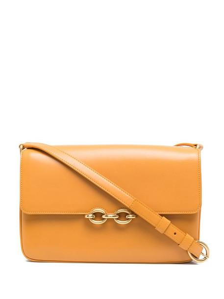 Saint Laurent chain-detail crossbody bag in yellow