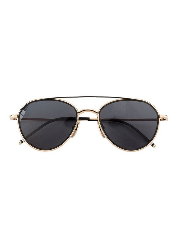 Thom Browne Eyewear Black Aviator Sunglasses
