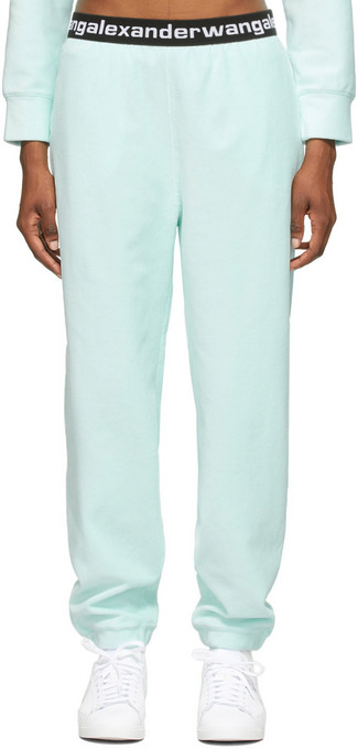 alexanderwang.t Blue Stretch Corduroy Lounge Pants in clear