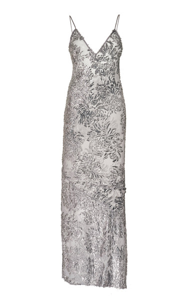 Fleur du Mal Fil Coupe Slip Dress in metallic