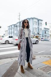 the fancy pants report,blogger,coat,sweater,top,jeans,shoes,sunglasses