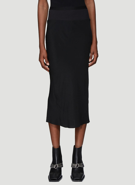 Rick Owens Ribbed Knit Skirt in Black size IT - 42
