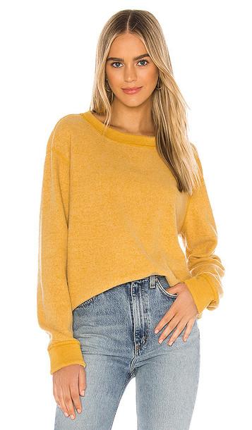 Michael Stars Celeste Reversible Sweatshirt in Mustard