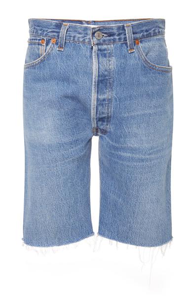 Re/done Frayed Denim Shorts Size: 26
