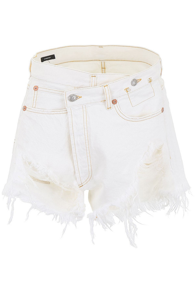 R13 Crossover Shorts in white