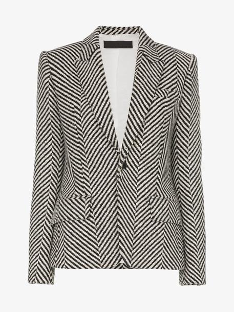 Haider Ackermann stripe virgin wool blazer in white