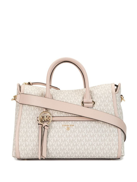 Michael Kors Carine logo medium satchel bag in pink