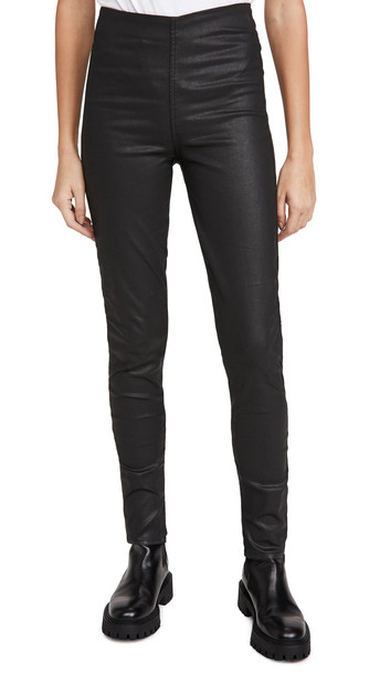 Rag & Bone/JEAN Nina High Rise Coated Pull On Jeans in black