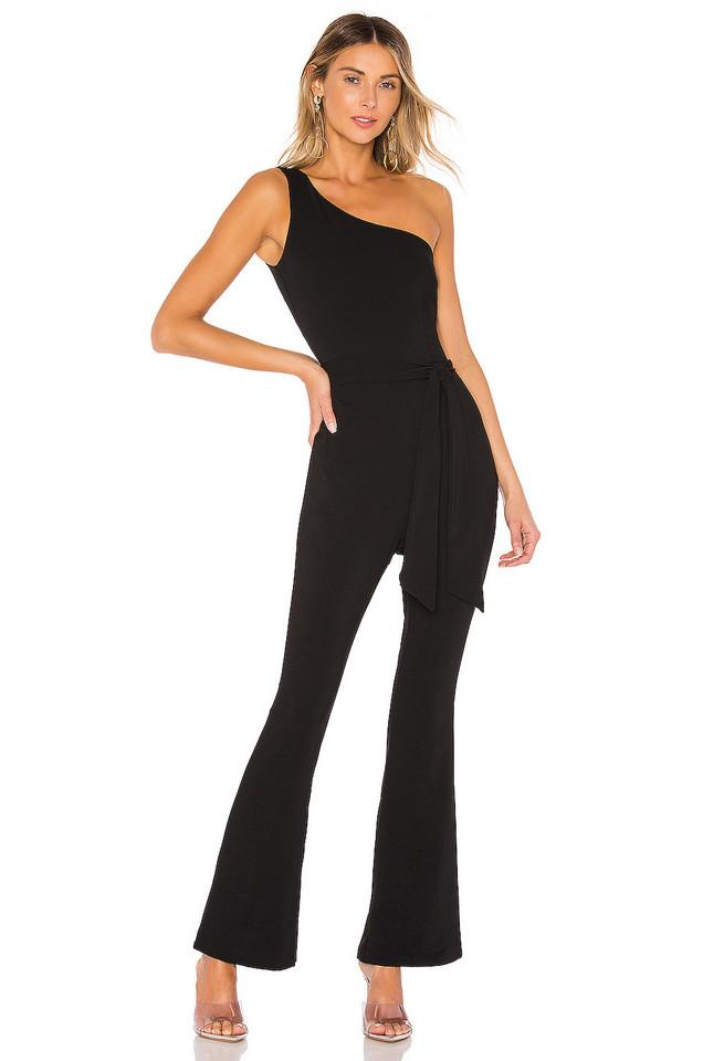 superdown Dejah Waist Tie Jumpsuit in black