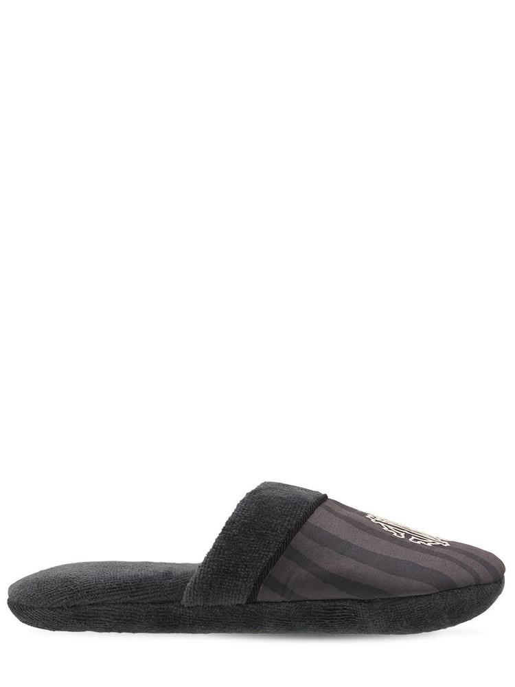 ROBERTO CAVALLI Macrozebrage Slippers in black