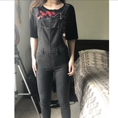 jumpsuit,tight,grey,denim,overalls,very tight,jeans,h&m,skinny,slim,bib,charcoal,back zipper,skintight,shoulder straps,sleeveless,dungarees