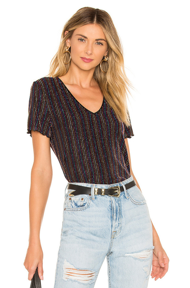 House of Harlow 1960 x REVOLVE Lora Top in black