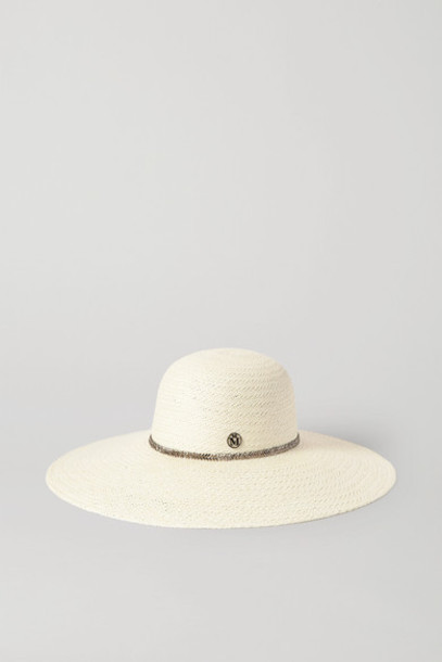 Maison Michel - Blanche Crystal-embellished Straw Sunhat - Cream
