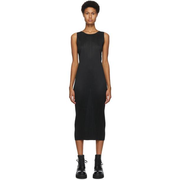 Pleats Please Issey Miyake Black Basics Tank Dress