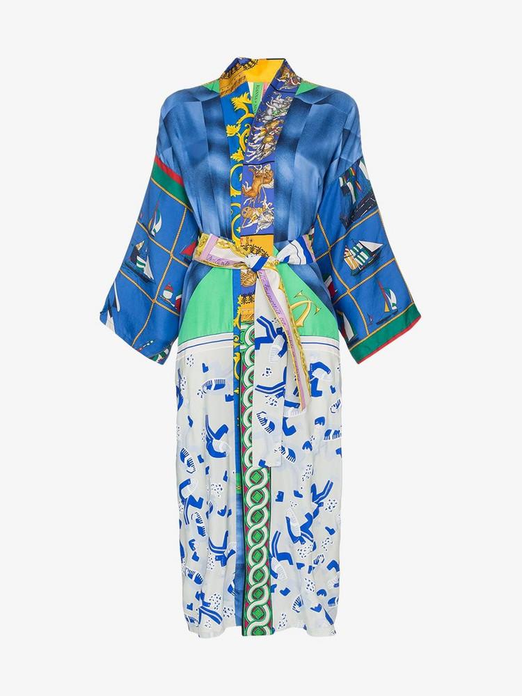 Rianna + Nina Rianna + Nina mixed print silk kimono