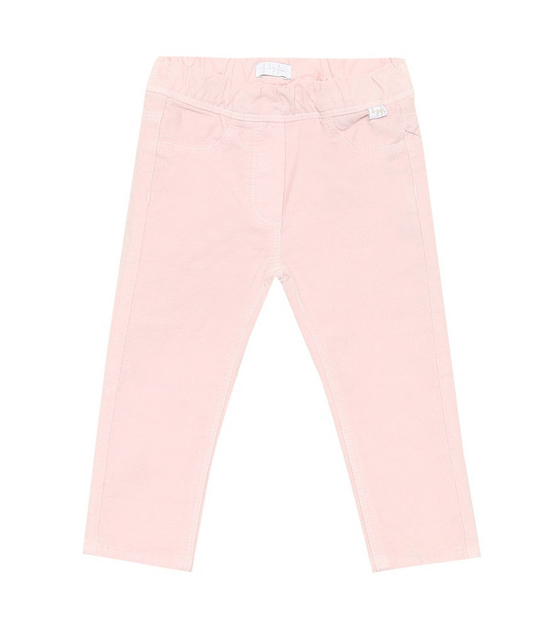 Il Gufo Baby stretch-cotton pants in pink