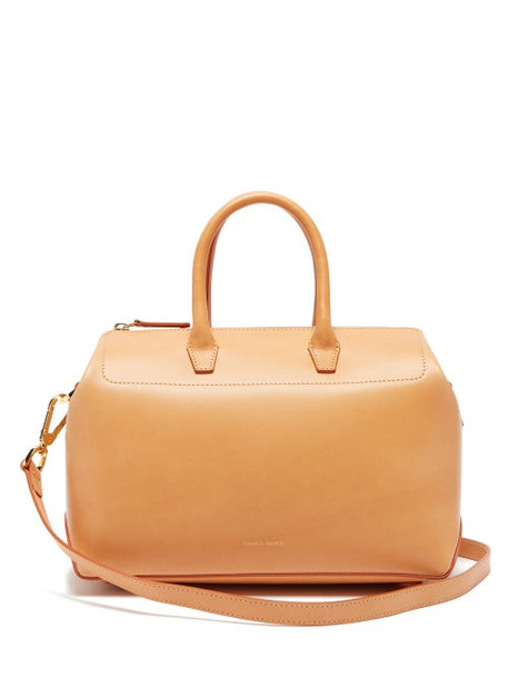 Mansur Gavriel - Travel Mini Leather Bag - Womens - Tan Multi