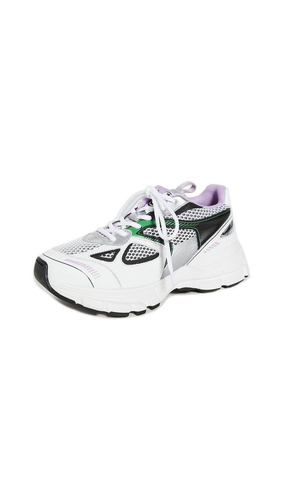 Axel Arigato Marathon Sneakers in black / green / white