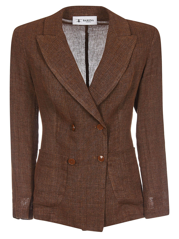 Barena Double Breasted Blazer in brown