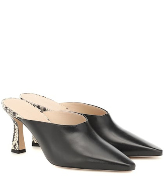 Wandler Lotte leather mules in black