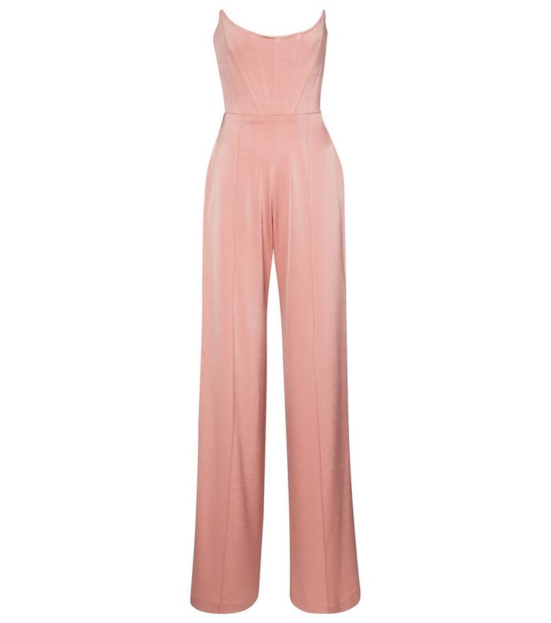 Alex Perry Slaine satin crêpe jumpsuit in pink